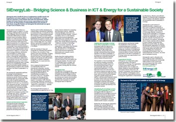 NRG Magazine 11 - September 2013 - SIEnergyLab - Bridging Science & Business in ICT & Energy for a Sustainable Society door Roel Croes GreenICT Foundation